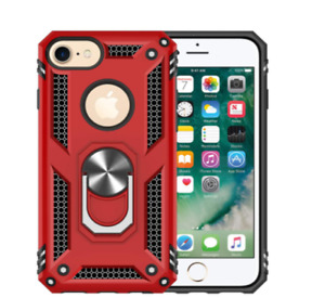 Apple IPhone 7 / 8 Case Shock-Resistant TPU Ring Kickstand Protective Cover RED