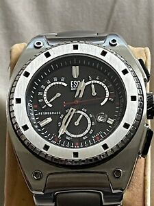 Men's Authentic ESQ Movado Watch Fusion Retrograde Wristwatch Recent Battery