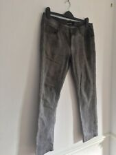 FISHBONE Men's Grey Washed Out Jeans Size 33/34