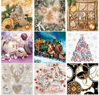 Christmas Paper Napkins for Decoupage Craft Serviettes LUXURY 33x33cm 3PLY x 20