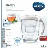 BRITA Elemaris XL MAXTRA+ Plus 3.5L Water Filter Table Top Jug + Cartridge White