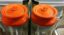 TWO TUPPERWARE TALL ACRYLIC CANISTERS-ship free
