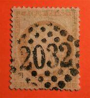 Marcophiles ! Cérès N°59 (TB- 1158-2)  Belle obl GC 2032 LIBOURNE Oblit + 80 €