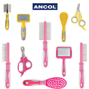 Ancol Grooming Tool Cat Small Animal Slicker Brush Comb Nail Clipper Moulting