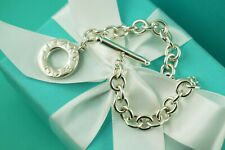 "AUTHENTIC Tiffany & Co Sterling Silver Toggle Bracelet 7 3/4"" (#1177)"