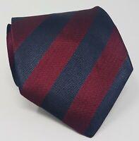 Cravatta Fendi Roma 100% pura seta tie silk original made in italy bordeaux blu