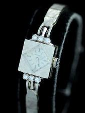 VINTAGE MOVADO 14K WHITE GOLD w DIAMONDS LADIES COCKTAIL DRESS WATCH
