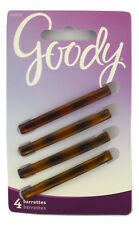 "GOODY 2"" HELEN TORTOISE STAYTIGHT HAIR BARRETTES  - 4 PCS. (02658)"