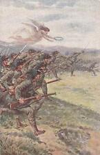 C1166) WW1, ANGELO ALATO GUIDA I BERSAGLIERI NELL'ASSALTO ALLA BAIONETTA.