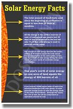 Solar Energy Facts - NEW Classroom Science Poster