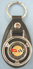 Vintage COLLECTOR EDITION CORVETTE 1982 Mini Steering Wheel Leather Keyring