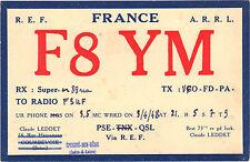 carte radio amateur France 1948 - Claude Leddet - Epeigné sur Deme