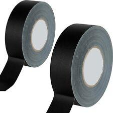 "Gaffers Tape 2 Rolls Mini 1"" 12 Yards No sticky Residue Tecnec BGT1 5030A-2"