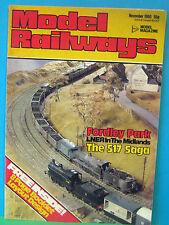 MODEL RAILWAYS NOVEMBER 1980 > FORDLEY PARK ~ LNER MIDLANDS in 4mm SCALE LAYOUT