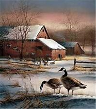 "Winter Haven By Terry Redlin Canadian Goose Print Image Size 11.5"" X 12.75"""