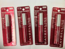 4 X Maybelline Forever Metallics Metal Shine Lip Color Pencil (SLEEK SCARLET)