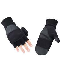Thermal Winter Fliptop Gloves Fingerless Convertible Warm Mittens For Men Women
