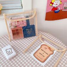 1pcs Transparent cosmetic bag large student pencil case portable pvc storage bag