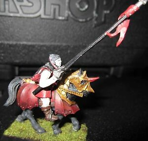 Warhammer Vampire Counts or  KoW Undead Vampire on Barded Steed  Painted