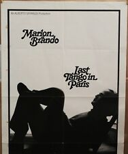 LAST TANGO IN PARIS 1sh '73 X-Rated Marlon Brando