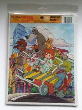 Vintage 1988 Walt Disney OLIVER & Company Golden Frame Tray Puzzle ~ Rare