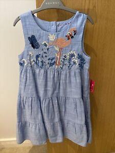 Nutmeg Girls Flamingo Dress Size 4-5. NWT.
