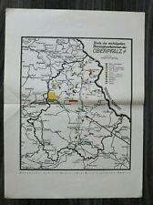 OPF A) Karte Bayern Rohstoffe 1928 Kohle Erze Erden Kaolin Granit Blei Oberpfalz