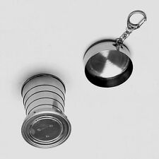 Mini Portable Telescopic Stainless Steel Folding Collapsible Cup For Travel