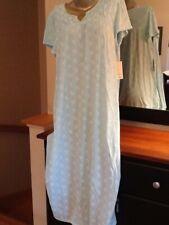 Croft & Barrow Knit Cotton Blend Short Sleeve Blue Nightgown Plus 4x