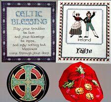 Celtic Blessing Cross Irish Dancers Holly Jingle Bells 4 CROSS STITCH PATTERNS