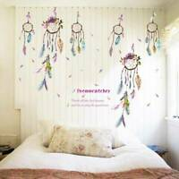 Flower Dream Catcher Quote Vinyl Decal Girl Bedroom Art Wall Sticker Mural Decor