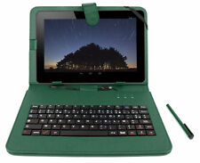 Green Faux Leather Case / Cover W/ Keyboard for Samsung Galaxy Tab A 10.1 (2016)