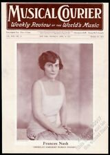 1927 Frances Nash photo Musical Courier framing cover