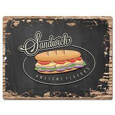 PP0506 Sandwich Plate Chic Sign Bar Store Shop Cafe Restaurant Kitchen Decor