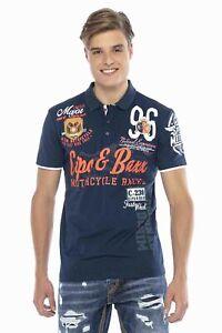 Cipo & Baxx Men's Boys Party Polo Shirt CT604 short Sleeve