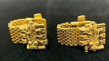 VTG Gold Tone Coiled & Chained Cufflink Set Silverdale