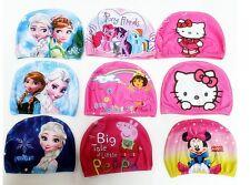 Cartoon Character Kids Children Childs Fabric Swimming Hat Swim Cap 2-10 years
