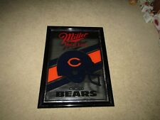 Miller High life beer VTG CHICAGO BEARS FTB mirror sign