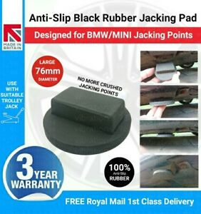 Anti-Slip Black Rubber Trolley Jack Pad Designed for BMW/MINI Jacking Points