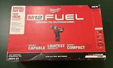 Milwaukee 2504 21 M12 Fuel Li Ion 12 In Hammer Drill Driver Kit 2 Ah New