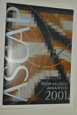 ASCAP May 26 2001 Pop Music Awards Program Excellent Conditions RARE
