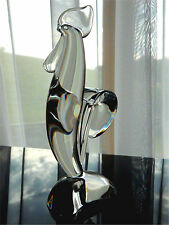 Steuben Art Glass Crystal Rooster 8074 Circa 1955 11 Inches Tall Crystal Bird