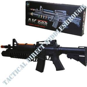 KIDS AK988 SNIPER RIFLE TOY GUN LIGHTS SOUND VIBRATION BOYS GIRLS ARMY SOLDIER