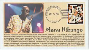 6° Cachets 4503 Manu Dibango jazz musician Cameroon sax vibraphone Soul Makossa