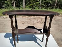Antique Hekman Mahogany side table Grand Rapids Mich. numbered 317
