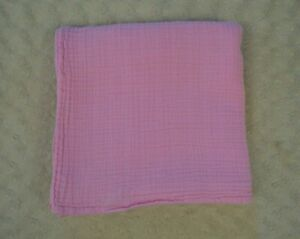 Green Sprouts Solid Pink Baby Swaddle Blanket Organic Cotton Muslin Lovey