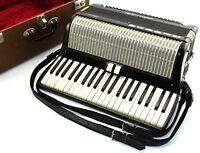 Vintage LUCIA Accordion 2637 Black w/ Case RARE - Ronnie ? Hohner, MADE in ITALY