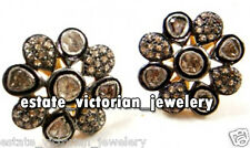 Victorian 1.64cts Natural Rose Antique Cut Diamond Silver Studs Earring Jewelry
