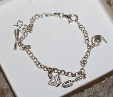 Bracelet Chain Charm Pendant Fashion Jewelery Gardener Gardening Bloom Tools