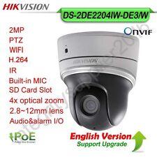 Hikvision DS-2DE2204IW-DE3/W 2MP PTZ IP Camera 4x Optic Zoom WIFI PoE P2P MIC IR